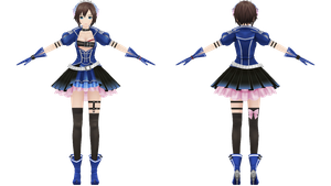 Project Diva F, Blue Crystal Meiko by xXNekochanofDoomXx