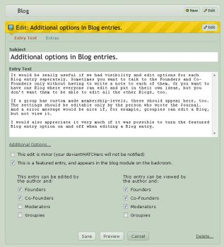 more options in blog entries by Raishuu