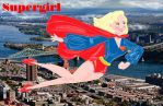 up up and away Supergirl by E-Ocasio