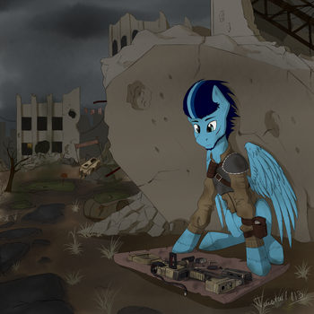 Somewhere in the wasteland (FoE OC art) by Twotail813
