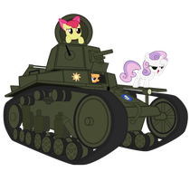 Cutie Mark Crusaders found T-18\MS-1 by DolphinFox