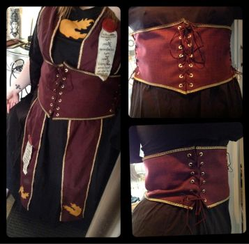LARP costume with corsage by Nemesister-dk