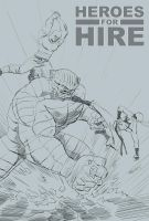 Heros for Hire sketch by captainclark