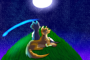 :RP: Looking at the stars by Darkstar-9-25