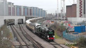 SR 35028 'Clan Line' at Battersea by The-Transport-Guild
