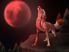 Red moon by Kaylinh