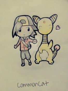 T002. My Chibi Ampharos by CommonCat