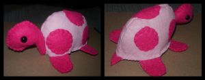 Pink Turtle Plushie by kiddomerriweather