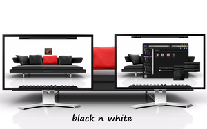 Black n White - My BBLean Desktop Lounge by rvc-2011