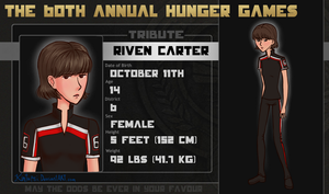 60th Hunger Games OCT: Riven Carter (District 6) by Kintupsi
