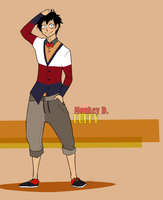K.Fashion - Monkey D. Luffy by eagle-eyes