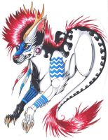 .:Character Design Commission - Winterbrookie:. by Zikki-chan
