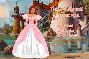 Ariel (Pink Dress) DL by crystalwingskeyblade