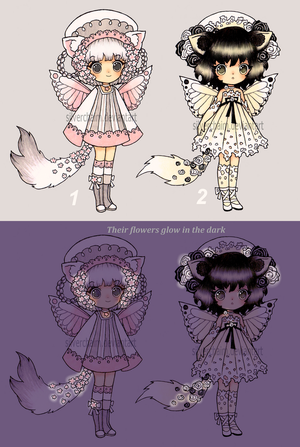 Flowery Bellaboushi Adopts (closed) by SilverChaim