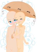 Couple Under An Umbrella base by khl1