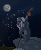 Rafiki mourns.... by Atarial