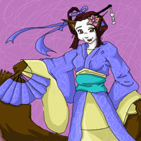 A geisha for Frisket17 by miyu-greenleaf
