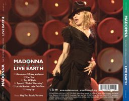 Madonna - Live Earth CD Back by MarieJoo