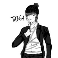 Taiga in a suit ey by waazaa