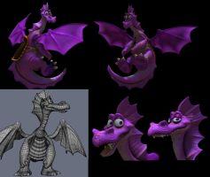 dragon poses and wireframe by fernandofaria