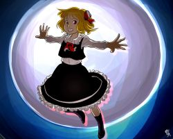 Flying youkai of the night - Rumia by Yhil-Soigeek