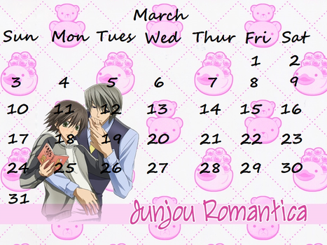 Junjou 2013 Calender March by len-takahashi