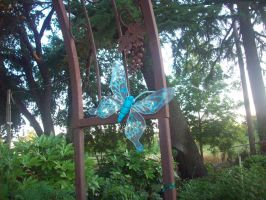 Blue Wire Butterfly by cheyxlove