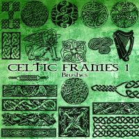 Celtic frames brushes by KarnivalKun