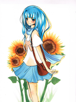 sunflower Aoi by carrot-milk