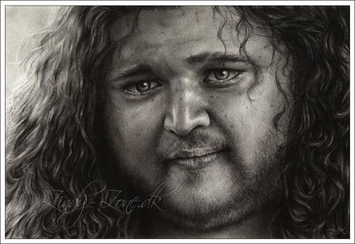 Jorge Garcia as Hurley by Zindy