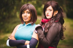 Korra and Asami Cosplay DOKOMI by MyriamMcFly