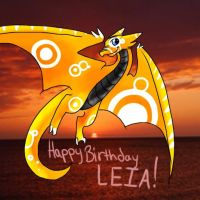 FIESTA DRAGON - Happy Birthday Leia! by HesperCambrie