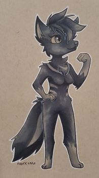 Nora the Wolf by Norcinu