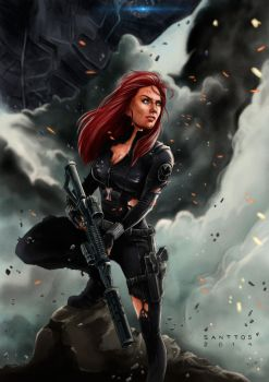 Black Widow by santtos-portfolio