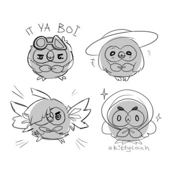 Rowlet Imposters by KittyCouch