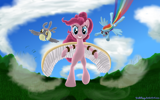 Who's best flyer? XD by DeathPwny