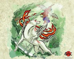 Okami Wallpaper by Pie-was-here
