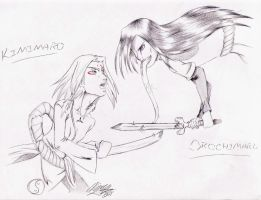 Kimimaro and Orochimaru by anime-fan-addict