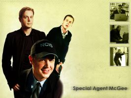 NCIS McGee Wallpaper by geofire