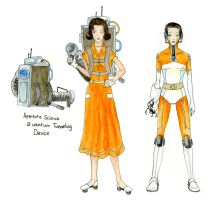 Past and Future Chell by ShaeEldera
