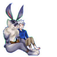 Jack Frost and Bunnymund 8 by saeru-bleuts