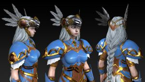 Valkyrie Profile Lenneth WIP CloseUp by MeganeRid