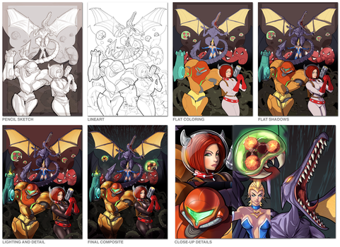 DOMTROID: Worlds Collide STAGES (Vector Art) by PerfectDork