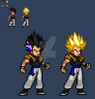JUSr: Gotenks (GT) sprite by SuperShadiw1010