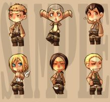 Shingeki no Kyojin - attack on titan keychain set2 by pandabaka