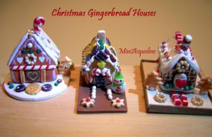 Xmas mini gingerbread houses by miniacquoline