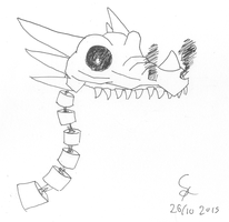 INKTOBER: maybe a dracolich by shook12