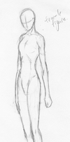 Female figure sketch by RaventailBlacktalon