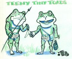 Teeny Tiny Toads two characters by tedbergeron