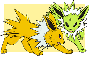 Jolteon Duo by Thindra